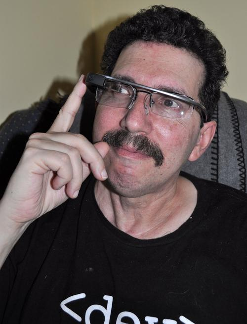 Ron Miller -- a Google Glass Explorer -- tested the device at home, but found it lacking. (Source: Tomma Henckel)