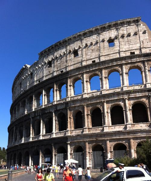 Could warehouses used to house books and CDs go the way of the Roman Coliseum? (Source: Ron Miller)