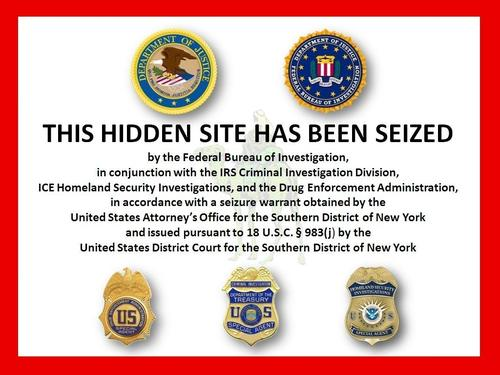 The FBI posted this notice on Silk Road.