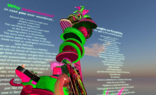 A sculpture created in Second Life, by TORLEY.