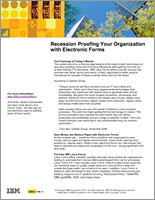 White Paper: Recession Proofing Your Organization with Electronic Forms