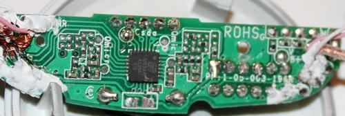 That's the AS3501 in a 4mm X 4mm package in the middle of the circuit board.