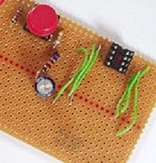 A typical perf board circuit. (Source: Wikipedia)