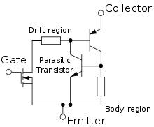 The functional equivalent of an IGBT (Source: Wikipedia)