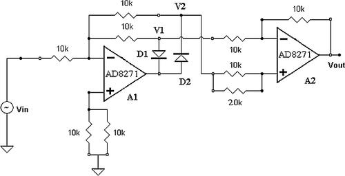 A simple full-wave rectifier.