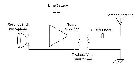 Figure 5:  Schematic Diagram of Simple AM Transmitter