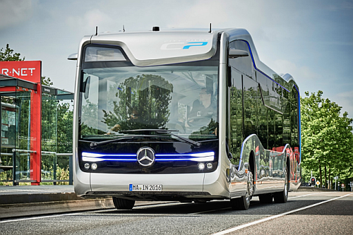 The 'Mercedes-Benz's CityPilot autonomous bus technology just got a real-world, long-range test drive on the streets and highways of the Netherlands.' (Source: engadget)