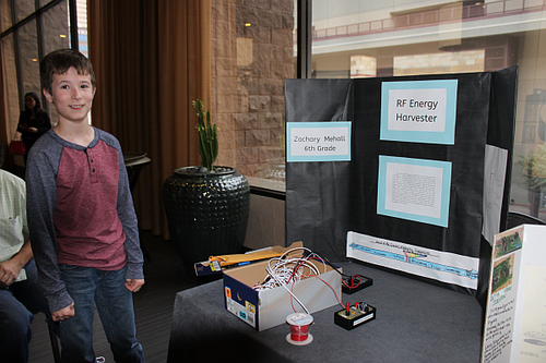 Zachary Mehall and his RF ambient Energy Harvesting project