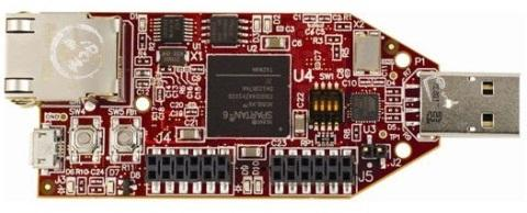 The Avnet Spartan-6 LX9 FPGA MicroBoard.