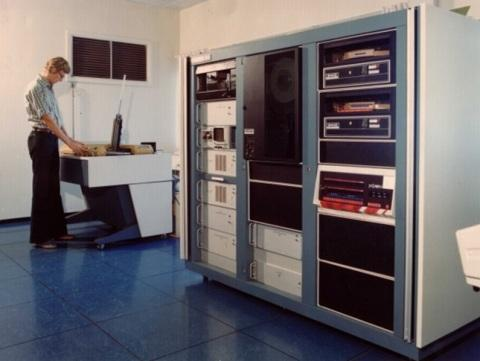 Sven working on the S-3260 test system from Tektronix in the mid-1970s.
