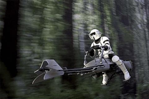 Star Wars Speeder Bike.