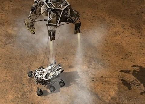 In August 2012, the Curiosity rover landed on Mars.