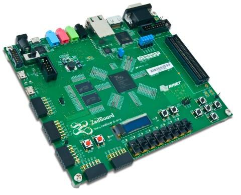 The Zynq-7000 All Programmable SoC-based ZedBoard.