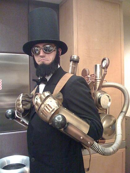 Steampunk Abe Lincoln -- interesting/thought-provoking image of the week.