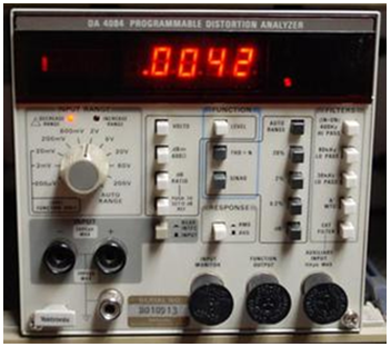 A Tektronix AA5001 programmable distortion analyzer module.