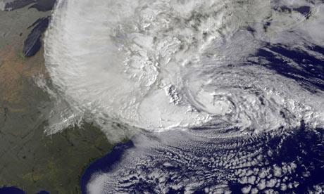 Hinh ảnh vệ tinh bão Sandy