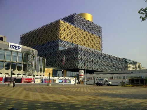 Birmingham's new library, intended to foster conversations and the exchange of knowledge and ideas.