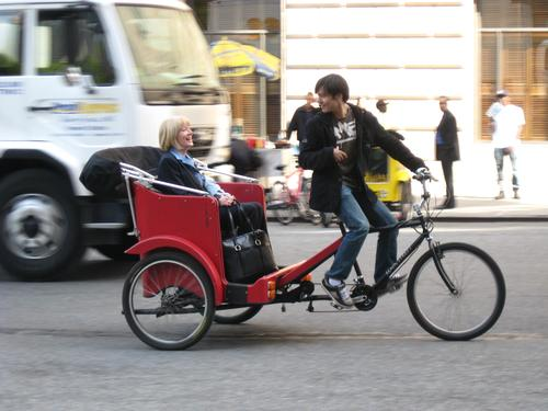 A New York pedicab.