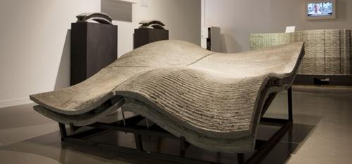 This one-tonne piece was produced from reinforced concrete to demonstrate Freeform Construction's 3D building method. (Source: Freeform Construction)