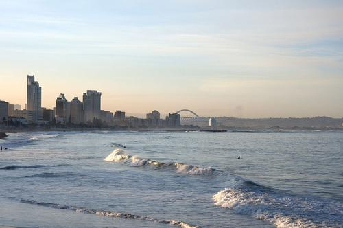 Durban beach  (Source: Wikimedia Commons)