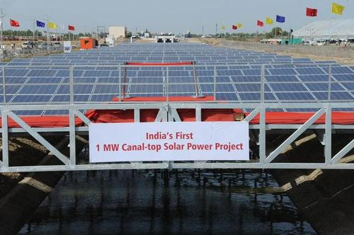 1 MW Solar Photovoltaic Pilot Power Project at Narmada branch canal near Chandrasan