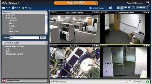 PSIM vendor VidSys consolidates multiple surveillance and monitoring views into a single console.   (Photo: VidSys.)