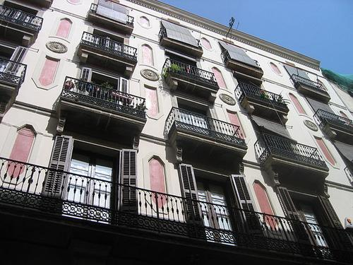 Balconies in Barcelona, Spain.  (Source: jpvargas)