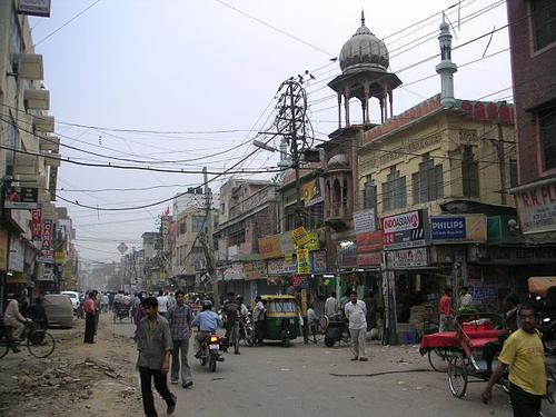 Delhi, India, where a gang rape this year has led to the study of a GPS-based alerting device.(Source: Soman/India via Wikimedia Commons)