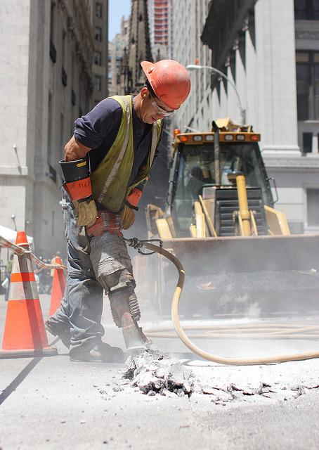 A jackhammer operator making noise. (Source: Nick Allen)