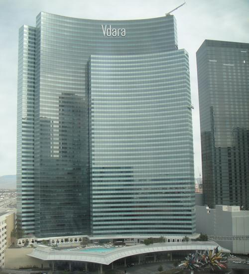 The Vdara Hotel in Las Vegas, home of the 'Vdara death ray.'