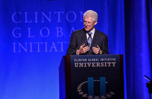 Former US President Bill Clinton at a meeting of the Clinton Global Initiative earlier this year. (Source: Dell Inc. via Flickr)
