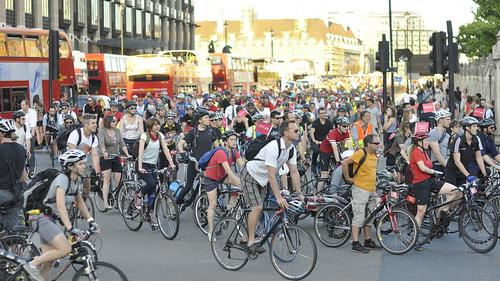 The London Cycling Campaign's Space for Cycling protest ride on 2 September 2013