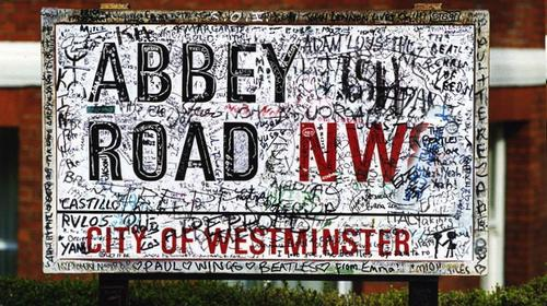 Tell people how many calories they could burn by walking up any given street - but good luck finding room on this sign from Abbey Road in London.