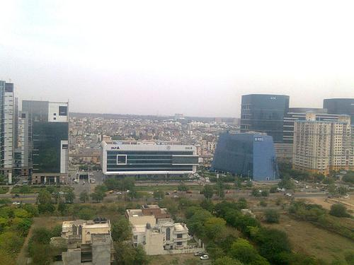 Gurgaon, India. (Source: Dealtroadd via Wikimedia Commons)