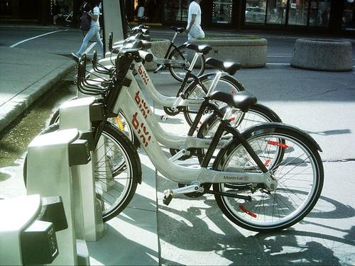 Bixi bikes in Montreal.(Source: Jean Gagnon via Wikimedia)
