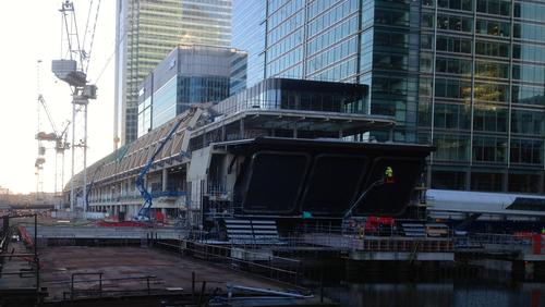 How the Crossrail station at Canary Wharf looks today.