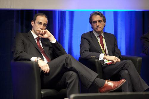 Antoni Vives, deputy mayor of Barcelona, with Inigo de la Serna, mayor of Santander.(Source: Smart City Expo World Congress Press Office)