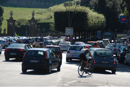 Traffic dominance in Frascati.