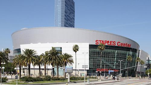 The Staples Center in Los Angeles, owned by Anschutz Entertainment Group. (Source: John O'Neill via Wikimedia Commons.)