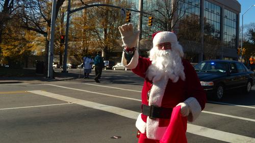 'Merry Christmas, everyone! Now where should I put this bike lane?'