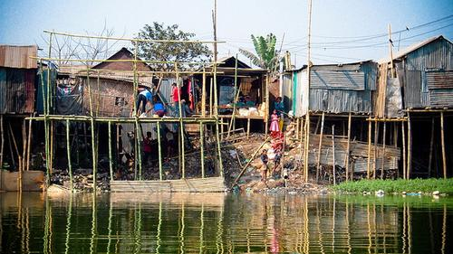 Stilt houses are commonly used in countries in Asia, including Bangladesh, and South America to guard against floods and vermin. This type of housing has been around since the Neolithic Era, which predated the Bronze Age, and is still a sensible approach to flood protection.