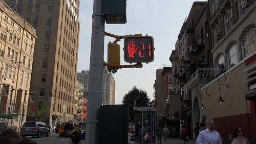 Pedestrian countdown clock in Manhattan. (Photo credit: Eric Fischer via Flickr.)