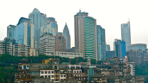 Chongqing in China is an example of a developing city poised for rapid population growth