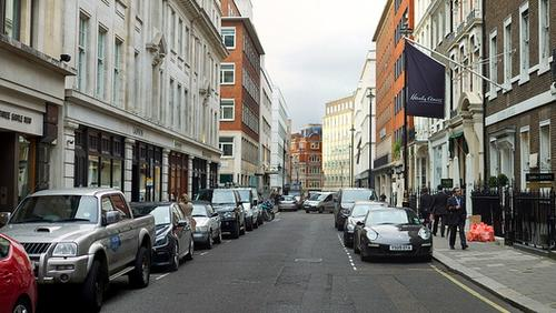 Westminster City Council and Smart Parking tested sensors on streets including Savile Row