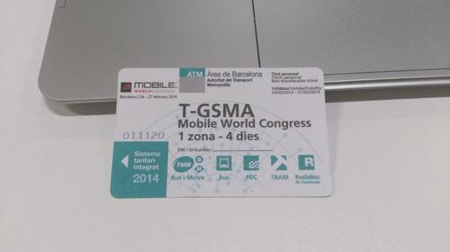 All MWC attendees receive a special four-day public transportation pass.  (Photo: Pablo Valerio)
