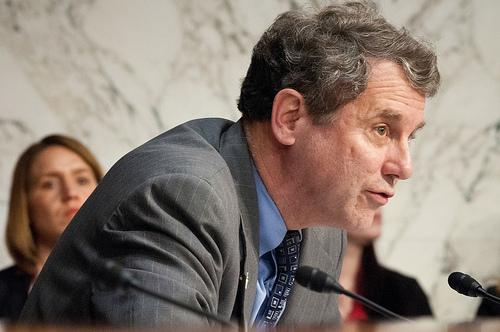 Sen. Sherrod Brown (D-OH), shown here questioning Agriculture Secretary Tom Vilsack in 2012, co-sponsored a bill on manufacturing institutes in July 2013.(Source: USDA)