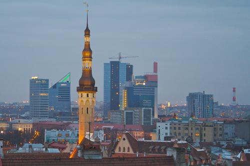 (Old and new--Tallinn's skyline. Source: Ethan Lindsay)