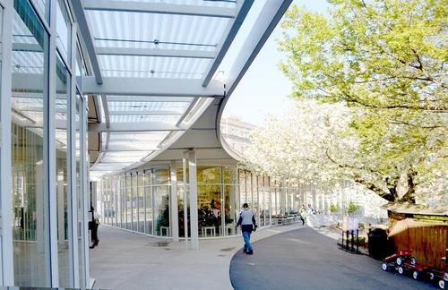 Brooklyn Botanic Garden Visitor Center entrance.(Source: Elijah Porter)