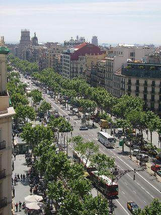 Paseo de Gracia from the Casa Mila.
