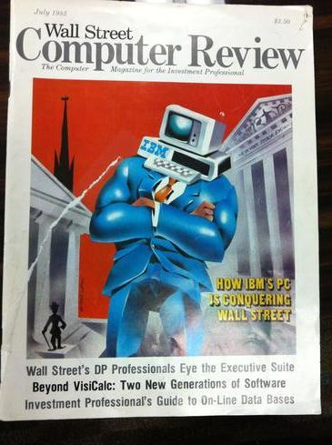 Wall Street & Technology Magazine was known for its illustrated covers. The first issue came out in July 1983.